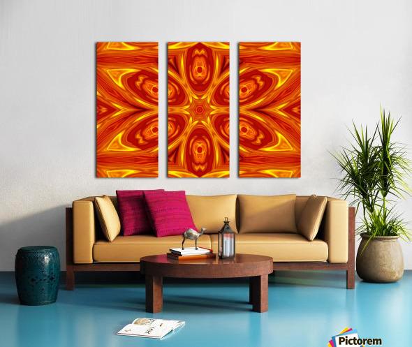 Fire Flowers 53 Split Canvas print