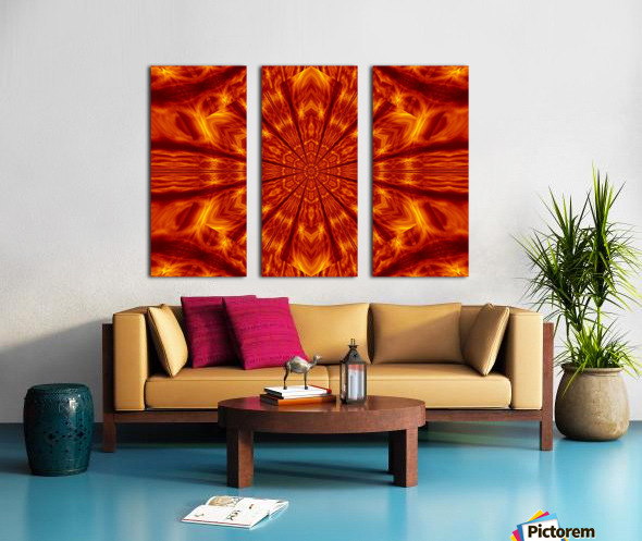 Fire Flowers 56 Split Canvas print