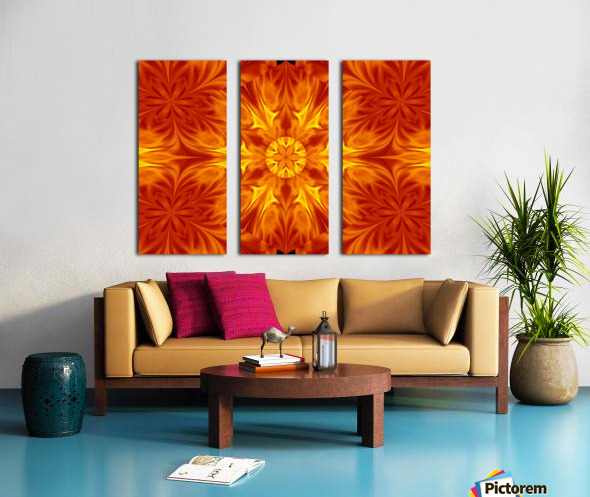 Fire Flowers 69 Split Canvas print