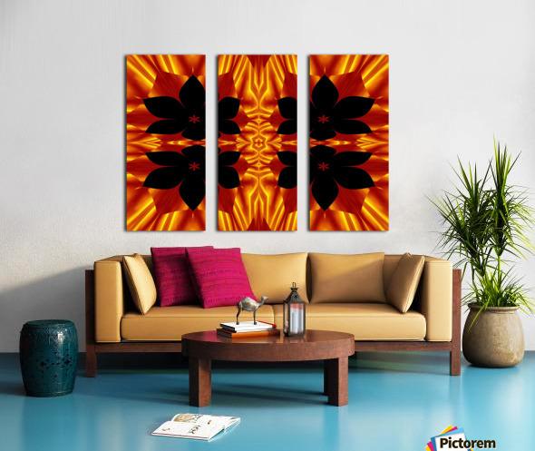 Fire Flowers 89 Split Canvas print