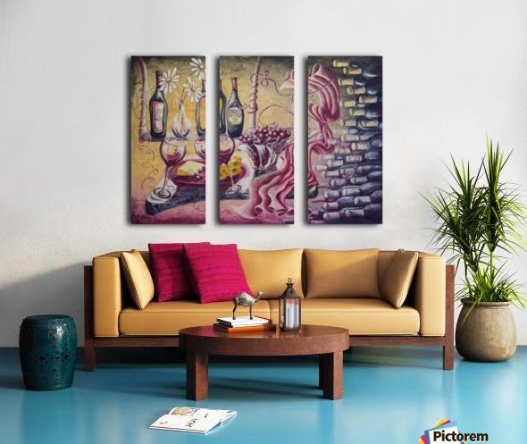 A pile of fun Split Canvas print