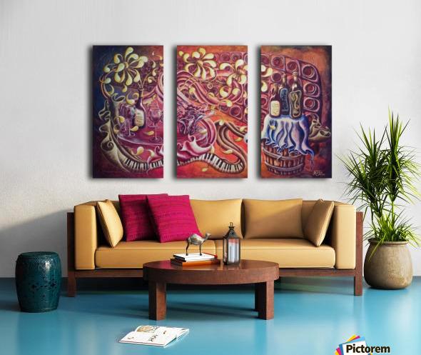 Party night (Nuit blanche) Split Canvas print
