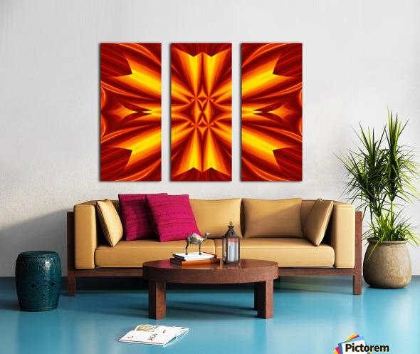 Fire Flowers 102 Split Canvas print