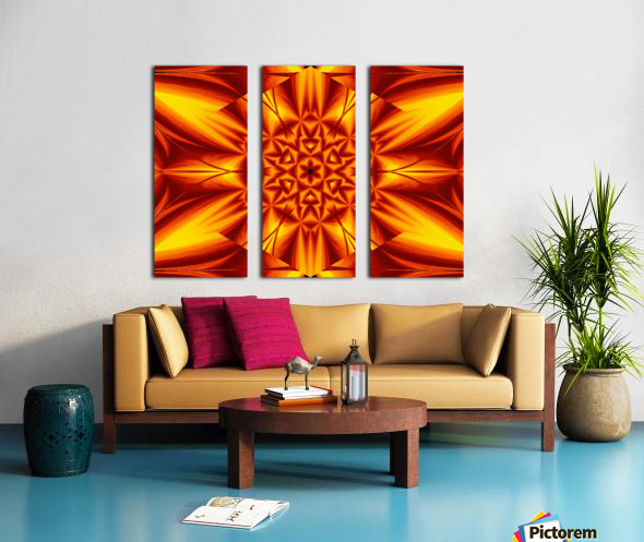 Fire Flowers 104 Split Canvas print