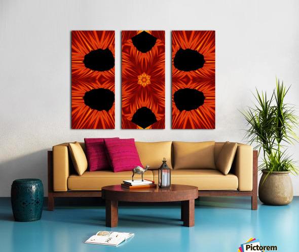 Fire Flowers 105 Split Canvas print