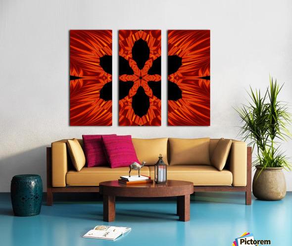 Fire Flowers 106 Split Canvas print