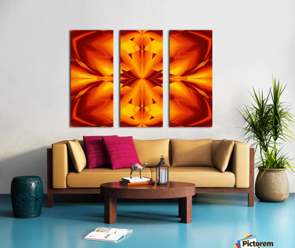 Fire Flowers 109 Split Canvas print