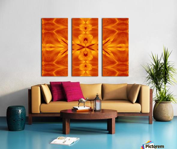 Fire Flowers 117 Split Canvas print