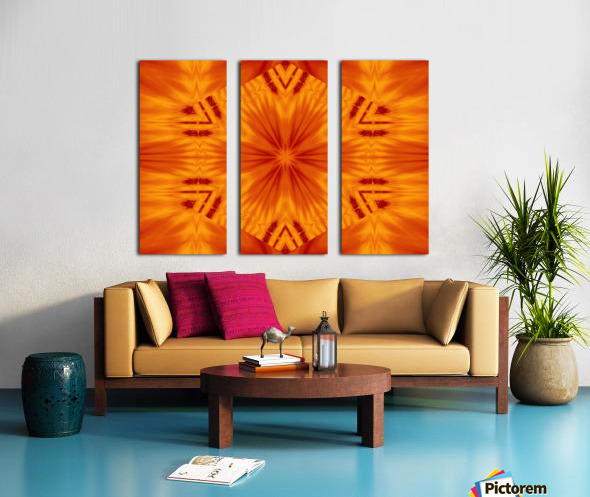 Fire Flowers 121 Split Canvas print