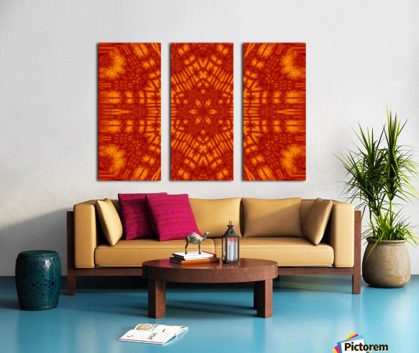 Fire Flowers 146 Split Canvas print