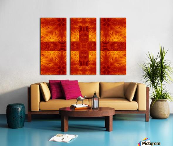 Fire Flowers 151 Split Canvas print