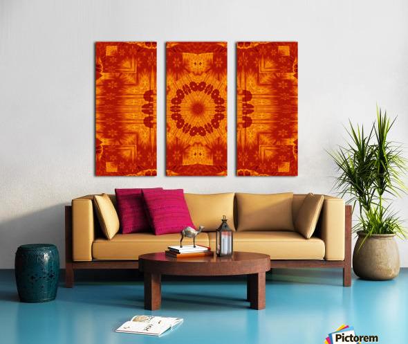 Fire Flowers 154 Split Canvas print