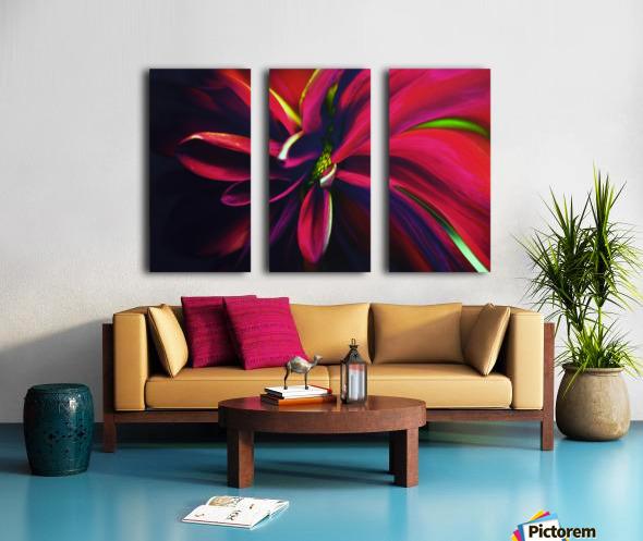 Reaching Split Canvas print