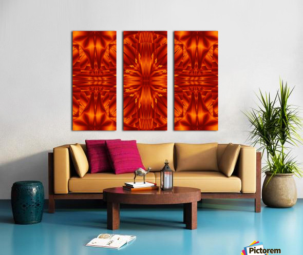 Fire Flowers 188 Split Canvas print