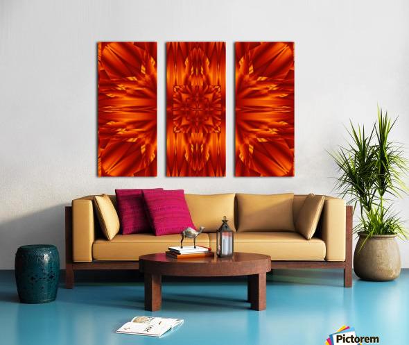 Fire Flowers 190 Split Canvas print