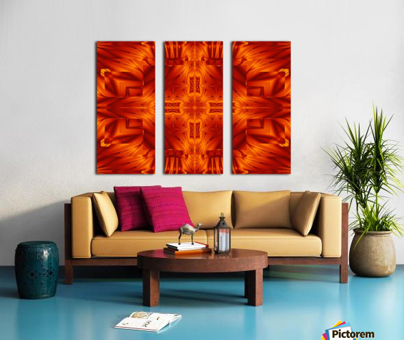 Fire Flowers 194 Split Canvas print