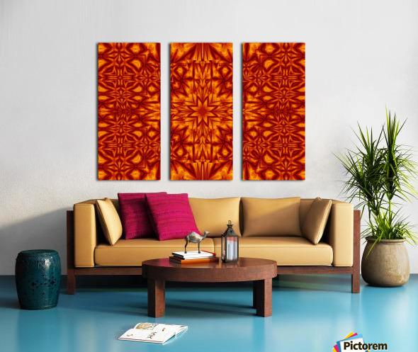 Fire Flowers 210 Split Canvas print