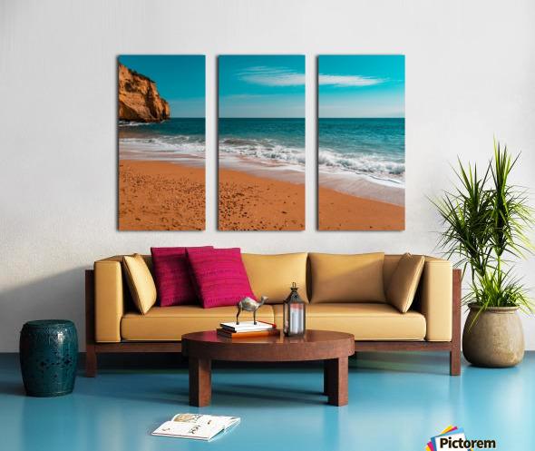 Ocean Beach in Teal and Orange Split Canvas print