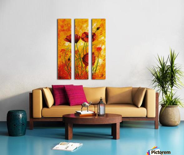 Edit Voros Red Poppies 006 Split Canvas print
