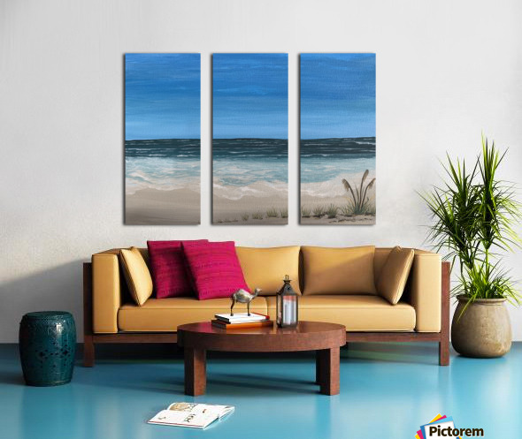 Ocean side Split Canvas print