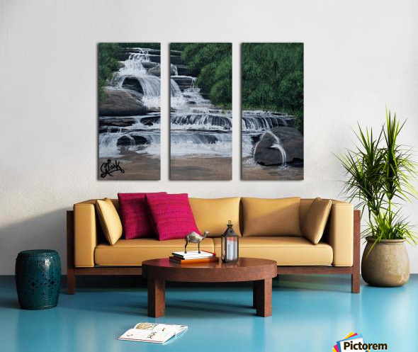River Falls Split Canvas print