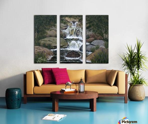 Secret Falls Split Canvas print