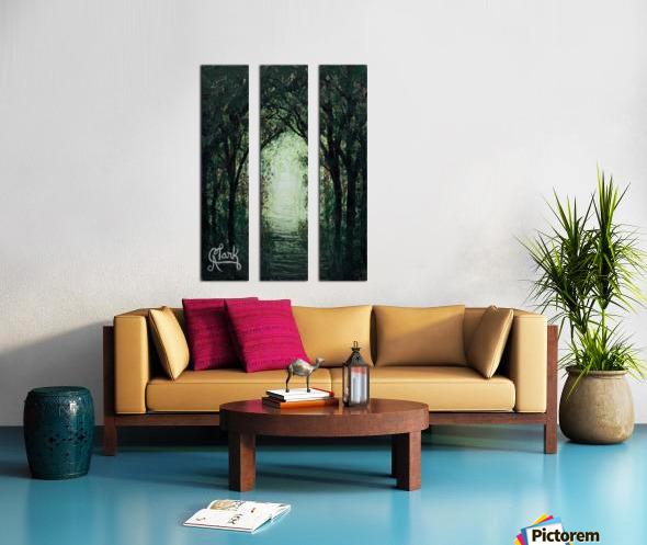 Path in the Woods Split Canvas print