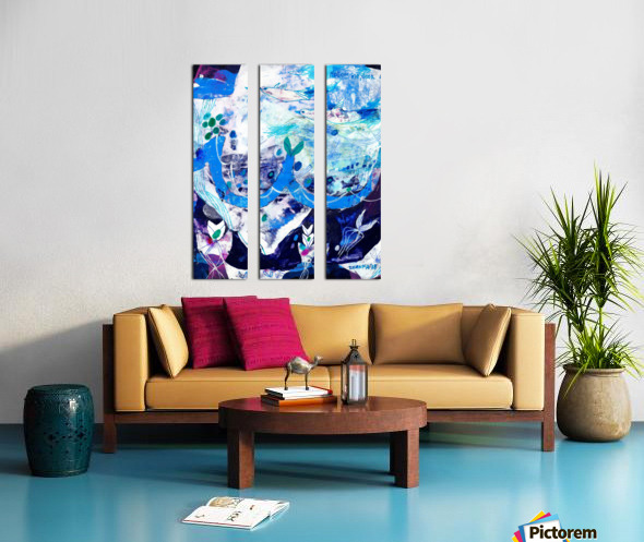 Follow Me Split Canvas print