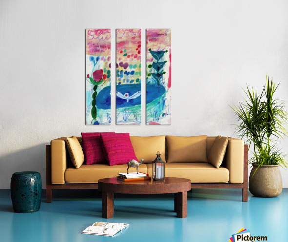 I Am Here Find Me Split Canvas print