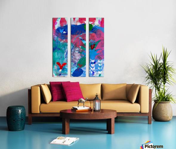 Pearl Seeker Split Canvas print