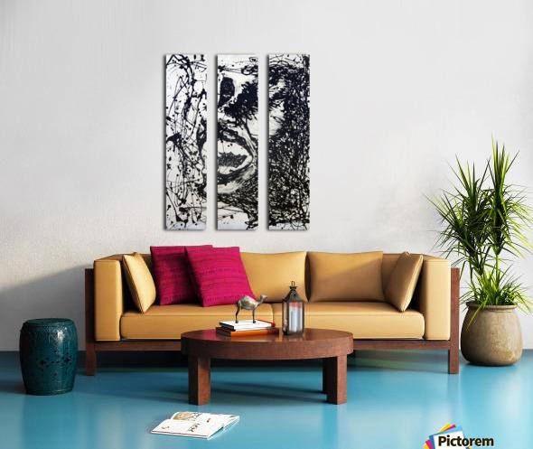 Scream Split Canvas print