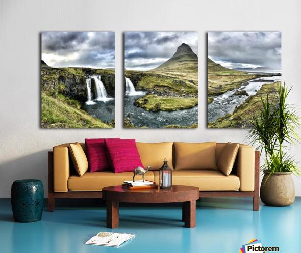 Kirkjufell Split Canvas print