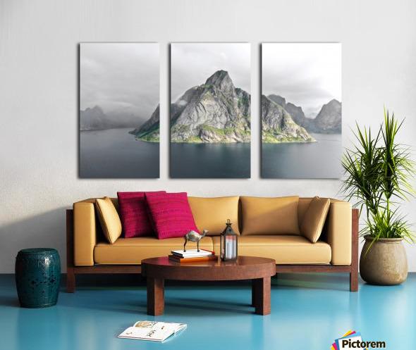 Lofoten 1 Stylized Split Canvas print