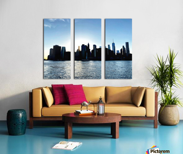 Before the Lights Come On Split Canvas print
