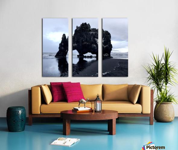 Hvitserkur Split Canvas print