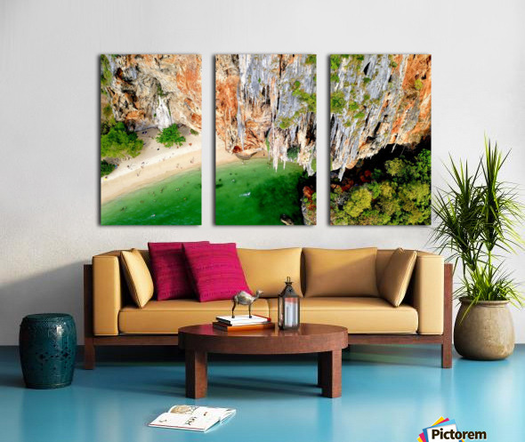 Thai From Up High Split Canvas print