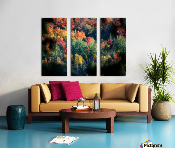 autumn abstract view Split Canvas print