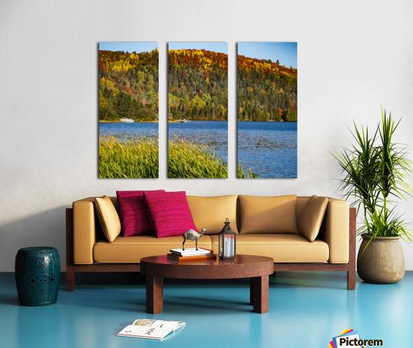 Lax Lake Mn Split Canvas print