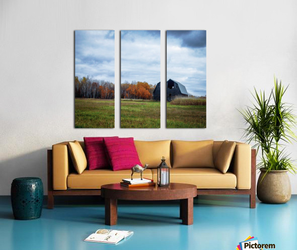 autumn barn Split Canvas print