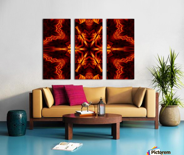 Eternal Flame Flowers 1 Split Canvas print