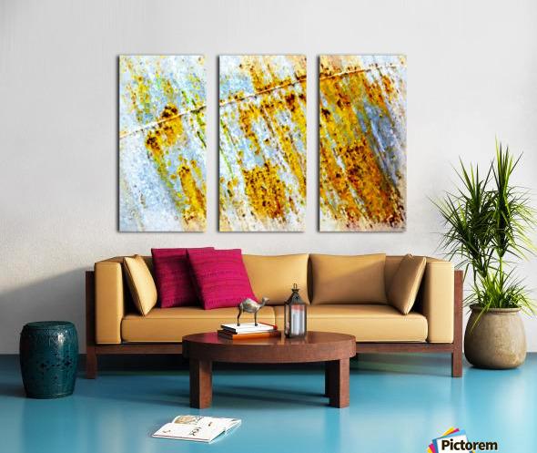 Rusty Barrel Split Canvas print