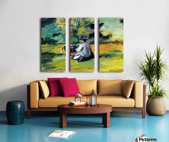 Painter at Work by Cezanne Split Canvas print