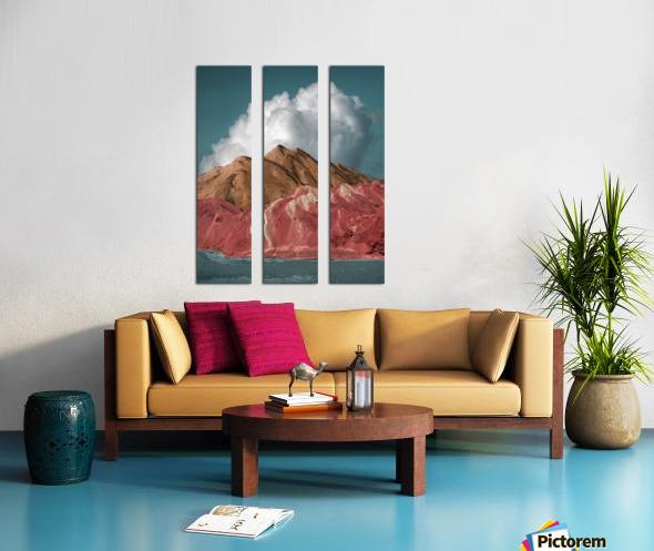 Colorful Danxia Split Canvas print