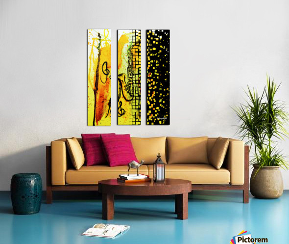 Saxophone Escaping Split Canvas print