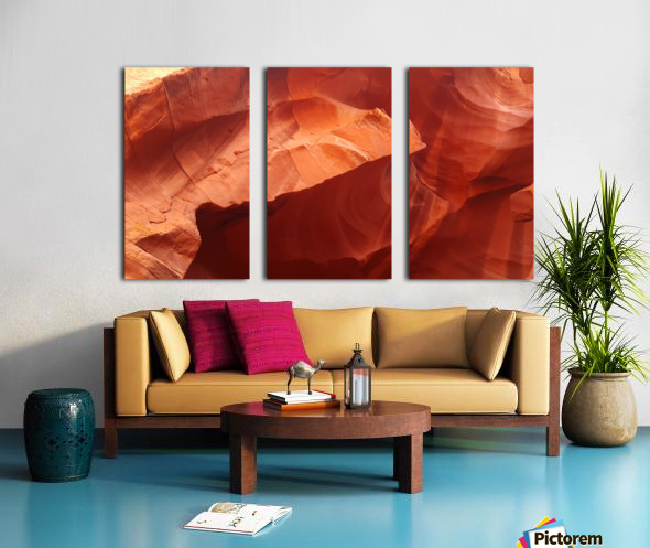 Eroded Wall of Antelope Canyon  Split Canvas print