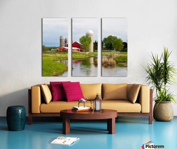 Country Farm Split Canvas print