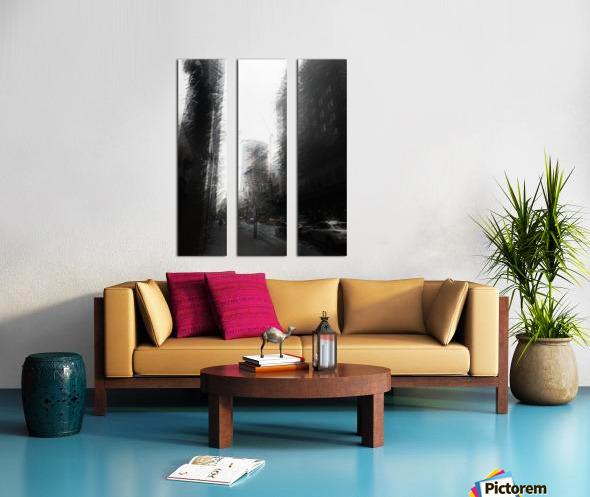 Skyscraper black and white  Split Canvas print