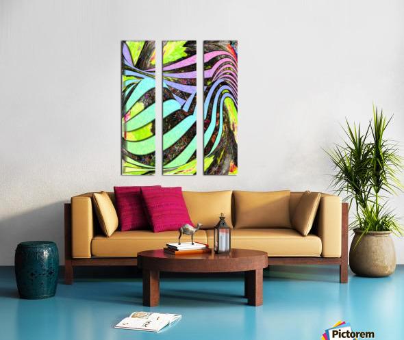 Yipes Its stripes Split Canvas print