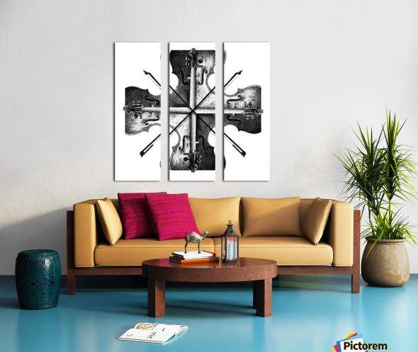 Harmony 36x36 BW Split Canvas print