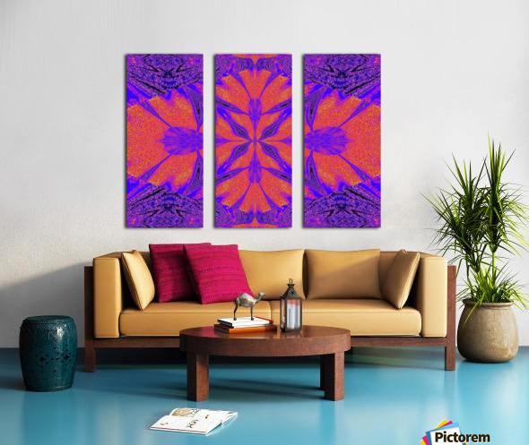 Purple Butterfly In Sunshine 1 Split Canvas print